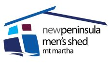 New Peninsula (Mt Martha) Men's Shed Logo